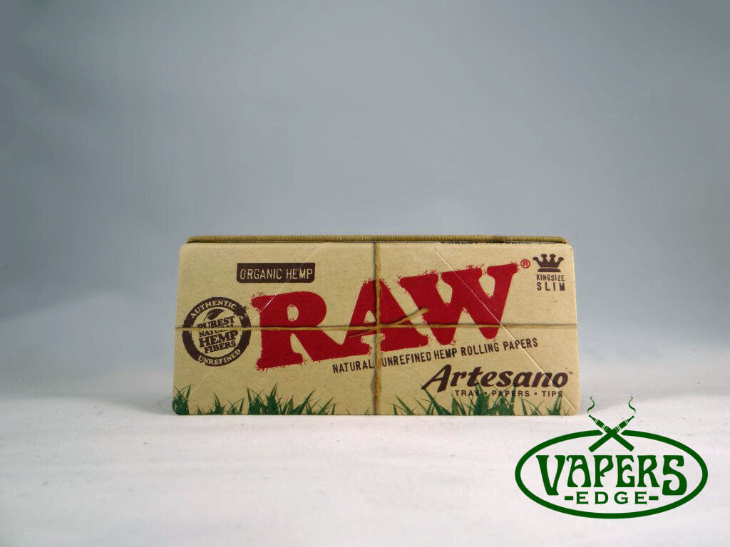 Raw Organic Hemp Artesano Rolling Papers King Size Slim 33 per