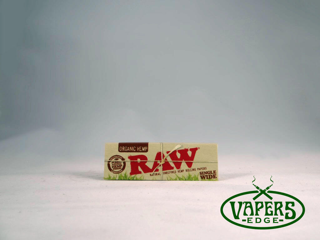Raw Organic Hemp Rolling Papers Single Wide Size 32 per