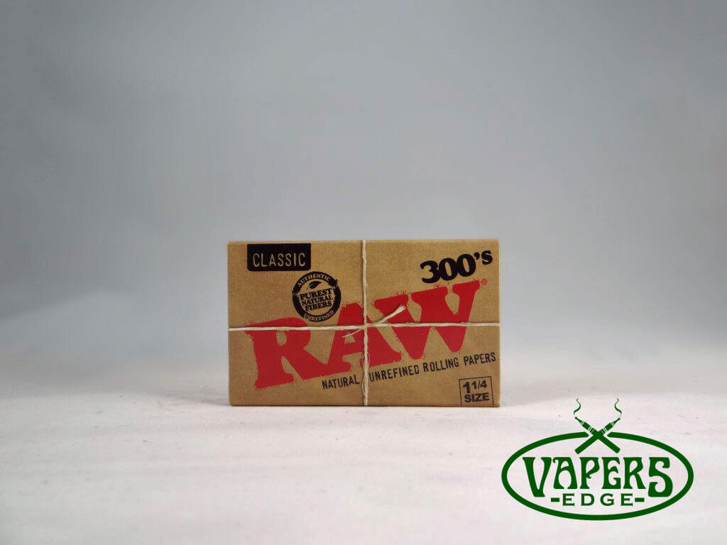 Raw Classic 300's Rolling Papers 1 1/4 Size 300 Per