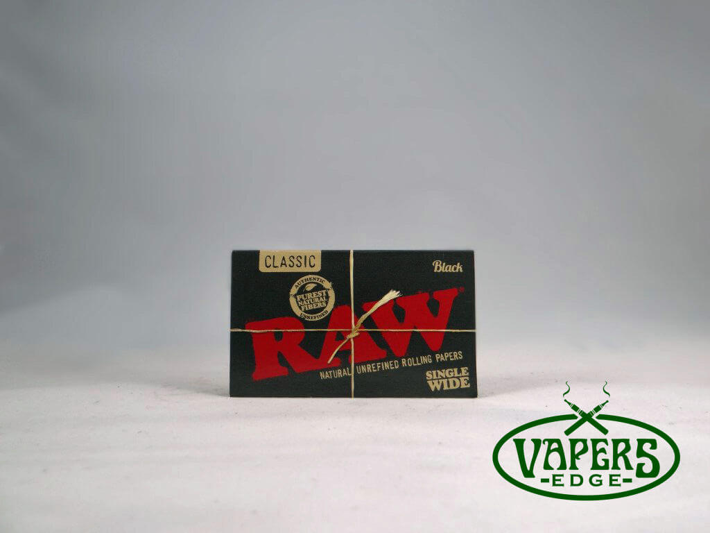 Raw Black Rolling Papers Single Wide Size 100 per
