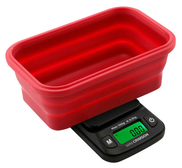 Truweigh Mini Crimson Collapsible Bowl Scale 100g x 0.01g