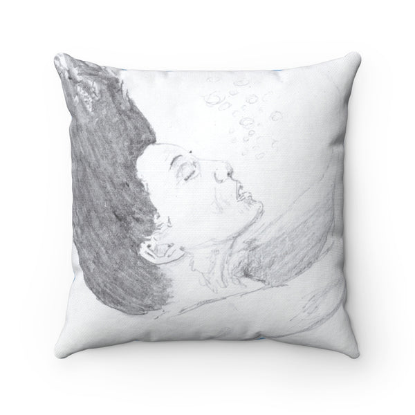 """In the Deep"" Square Pillow"