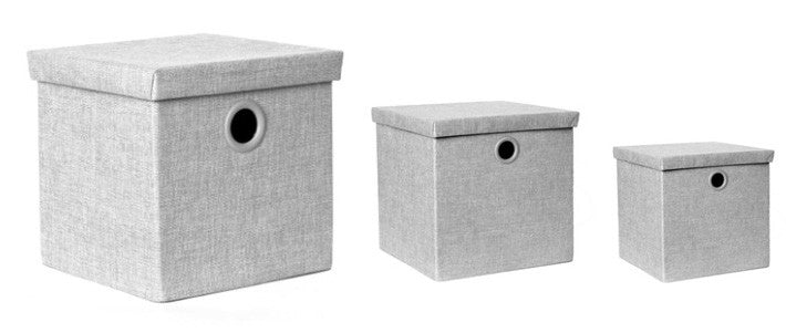 Cajas Klau CasaMia Set de 3 Color Gris