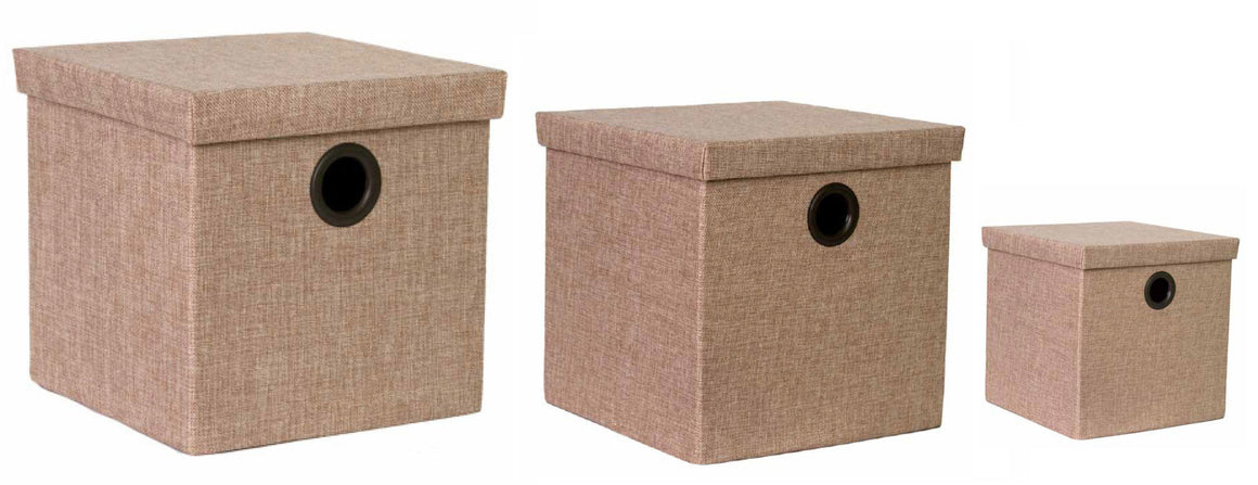 Cajas Klau Set de 3 Color Beige