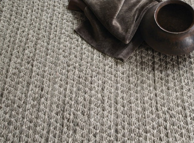 Tapete Chunky Knot Wool Grey