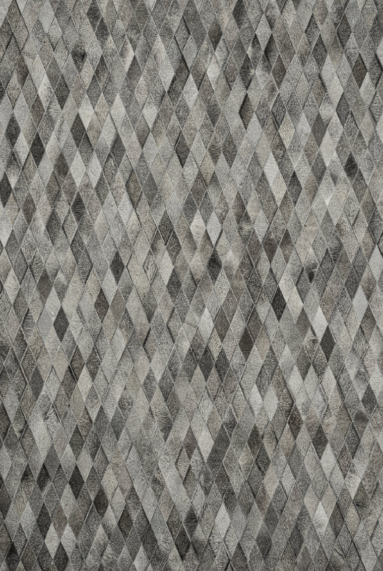 Tapete Cow Hide Rug Diamond Grey