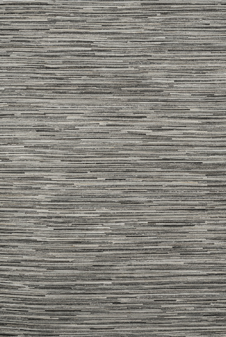 Tapete Cow Hide Rug Fino Stripe Grey