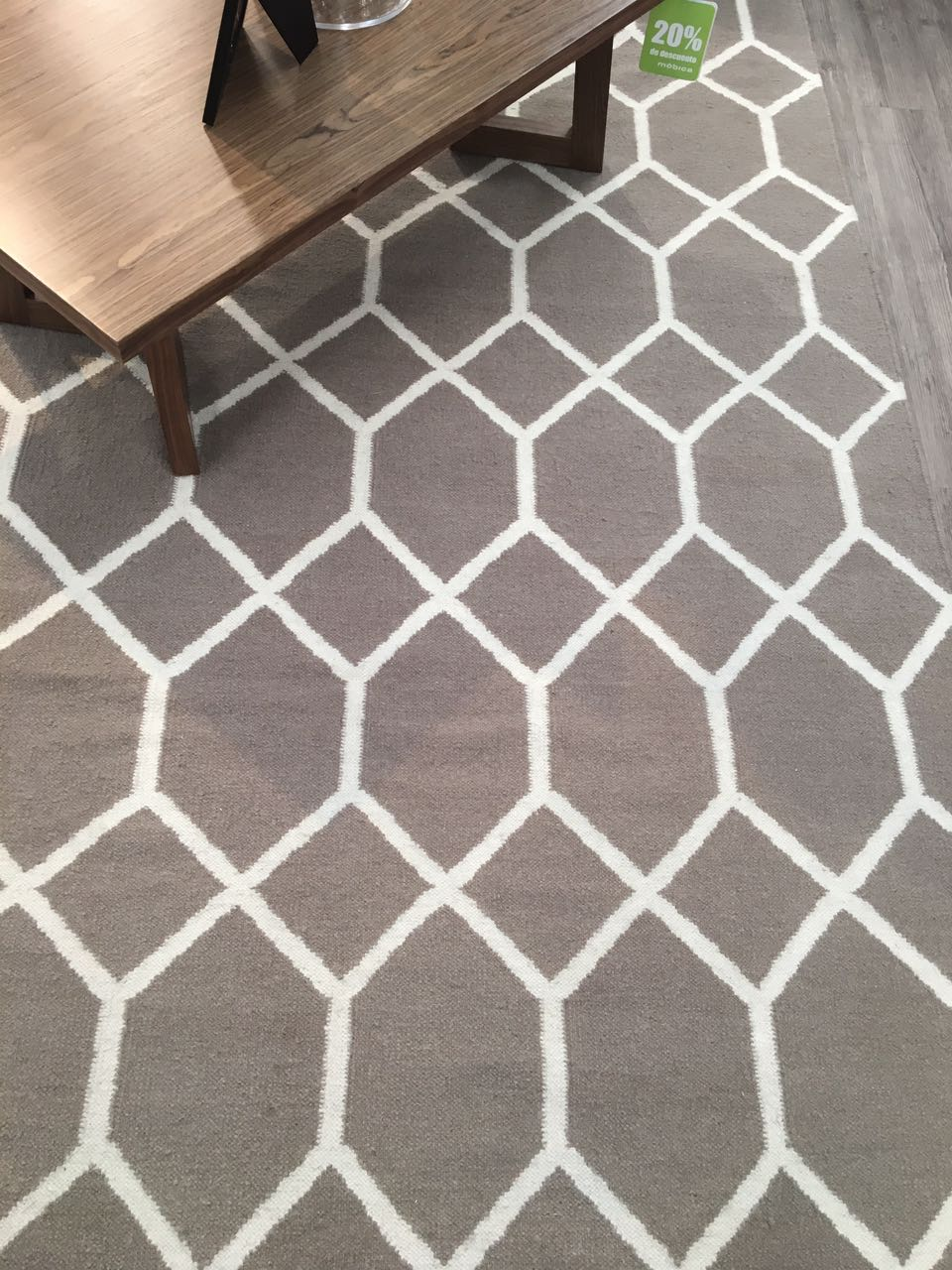 Tapete Marruecos Hexagono Grey