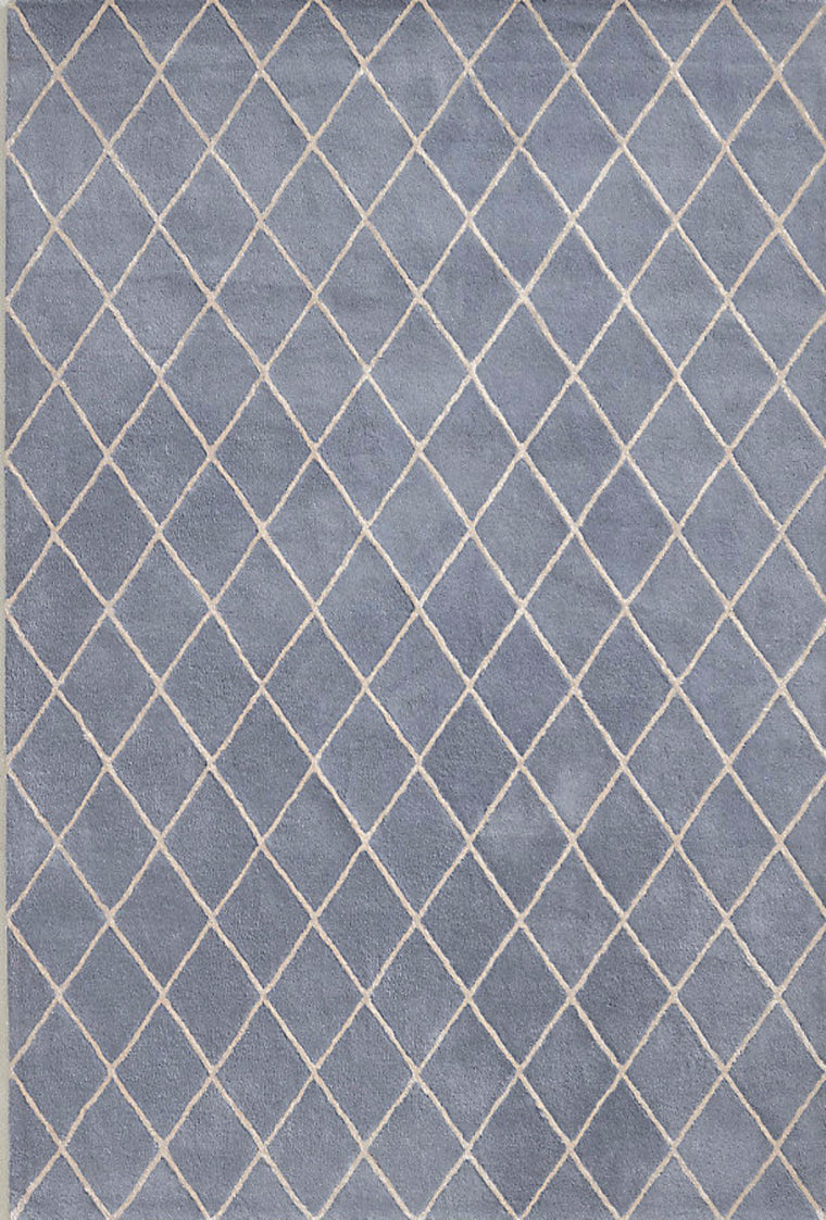 Tapete Amari Trellis French Blue - Disponible en 3 medidas