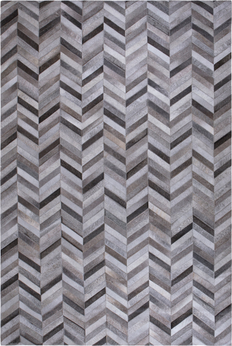 Tapete Cow Hide Rug Parquet Dark Grey
