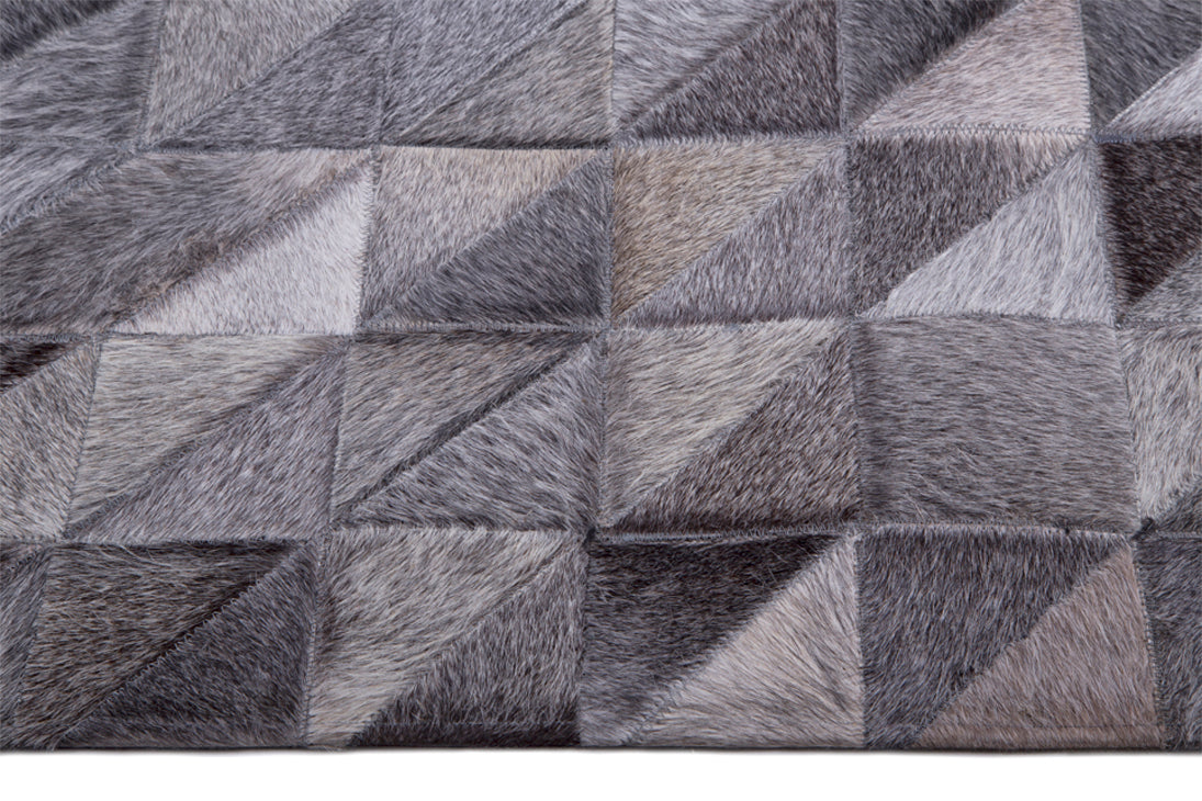 Tapete Cow Hide Rug Pixel LT Grey