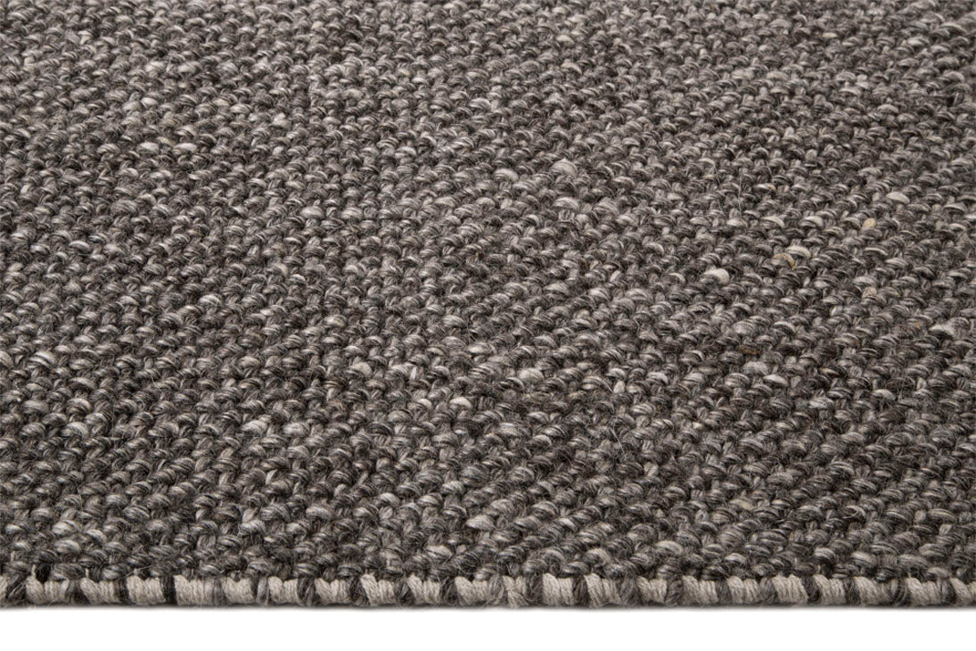 Tapete Looped Basket Weave Natural Raven (Dk Grey)