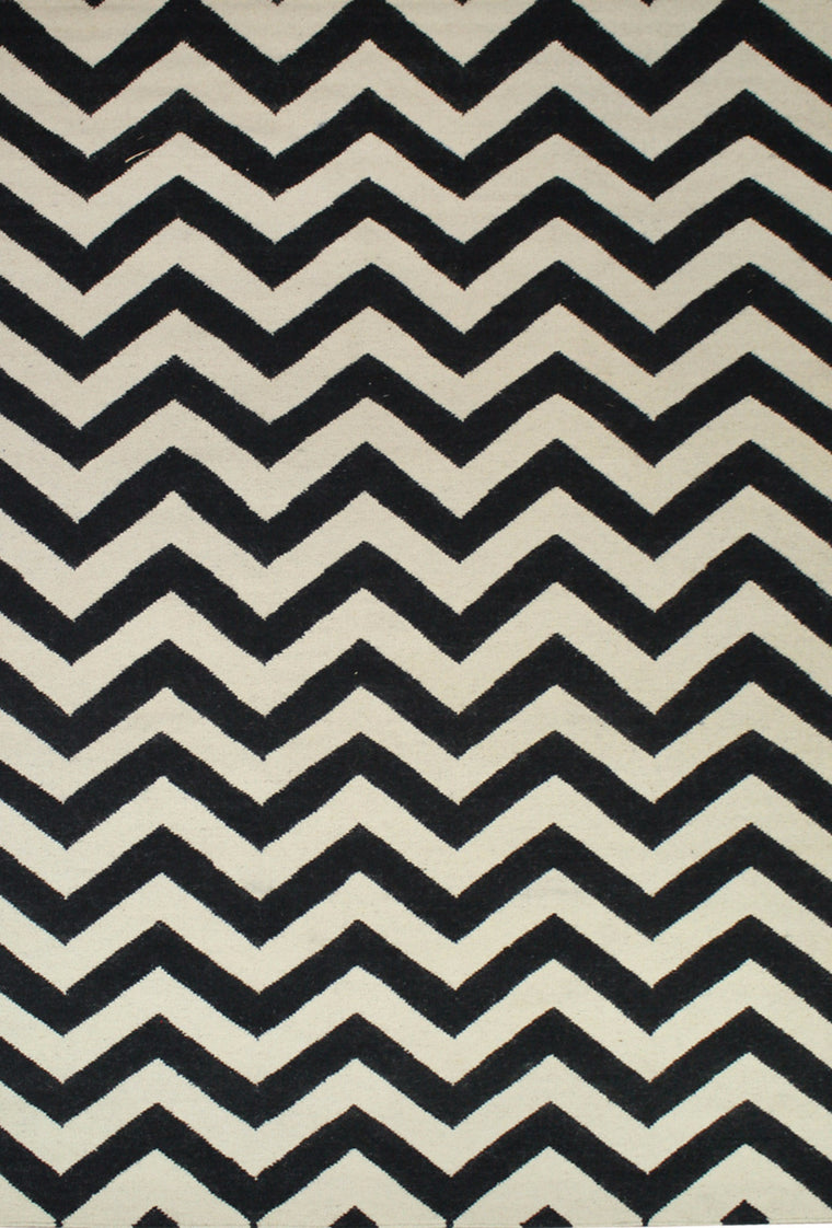 Tapete Marruecos chevron Ivory/Charcoal - Disponible en 4 Medidas