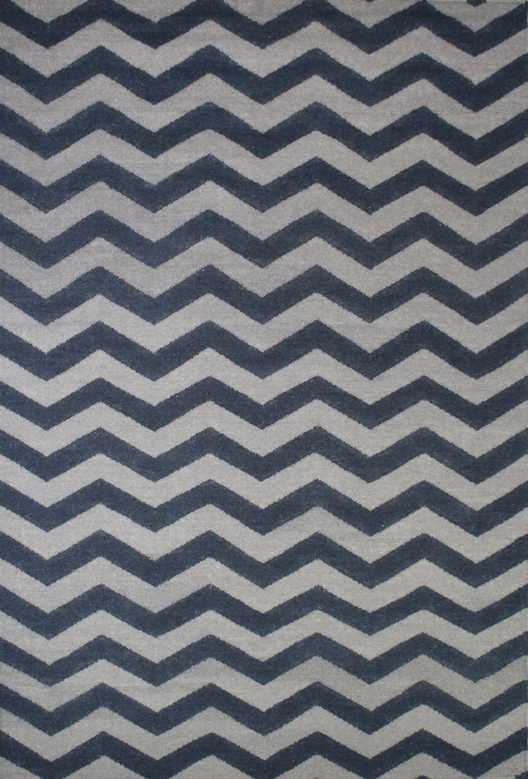 Tapete Marruecos chevron Marine/Grey- Disponible en 4 Medidas