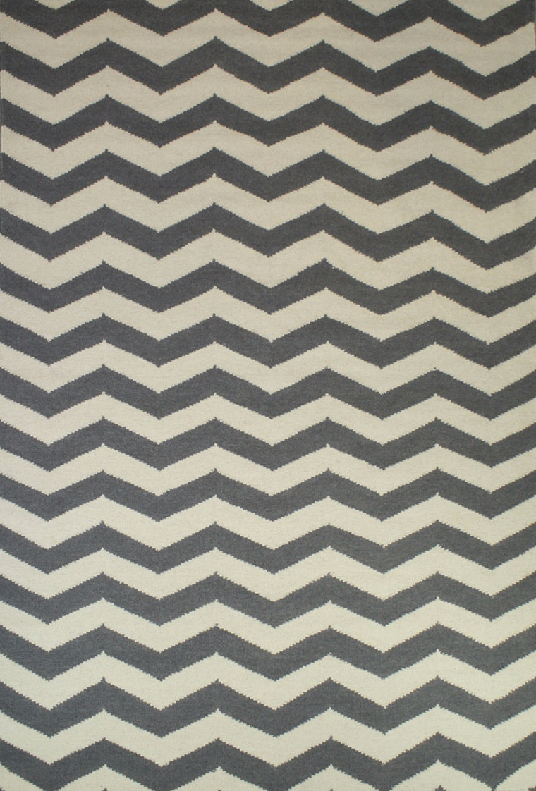 Tapete Marruecos chevron Silver/Ivory- Disponible en 4 Medidas