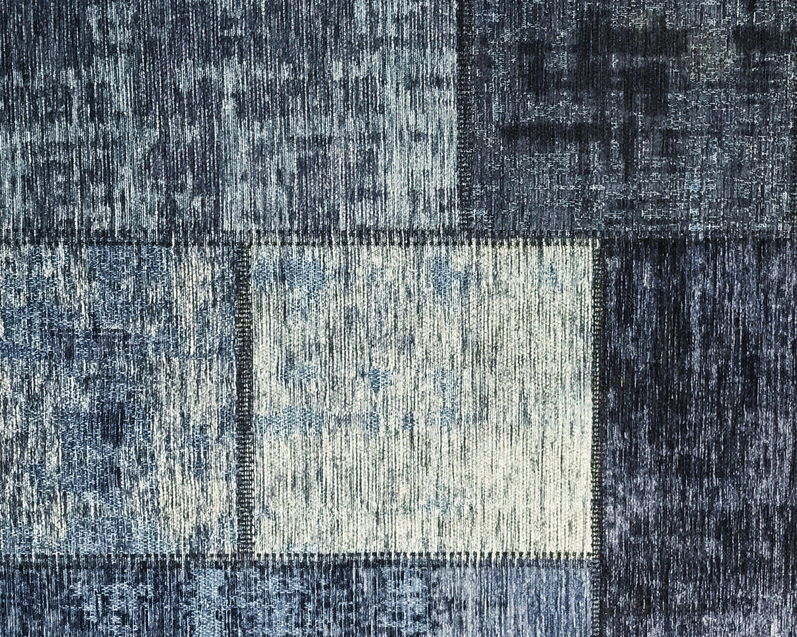 Tapete Patchwork Vintage Pagrun Azul