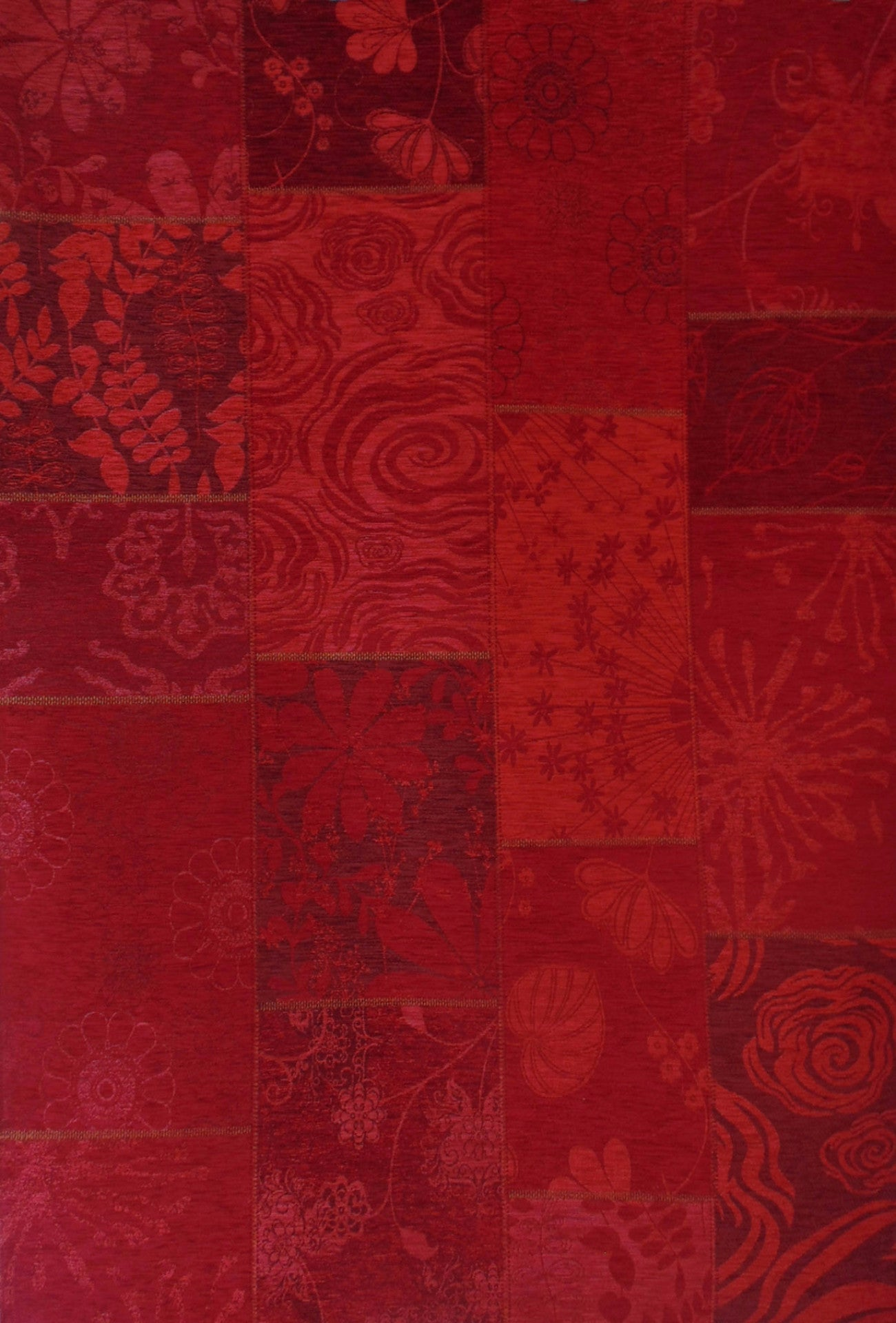 Tapete patchwork vintage sylvia rojo 200x290 cm casamia for Vintage tapete