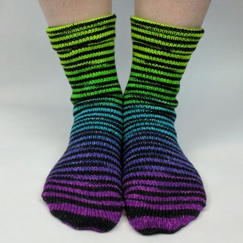Custom-Dyed: Gradient Striped and Extreme Striped Socks Sets