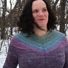 Gradient Yoke Sweater, by Amy Detjen