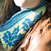 Maple Leaves Cowl, by Wendy D. Johnson