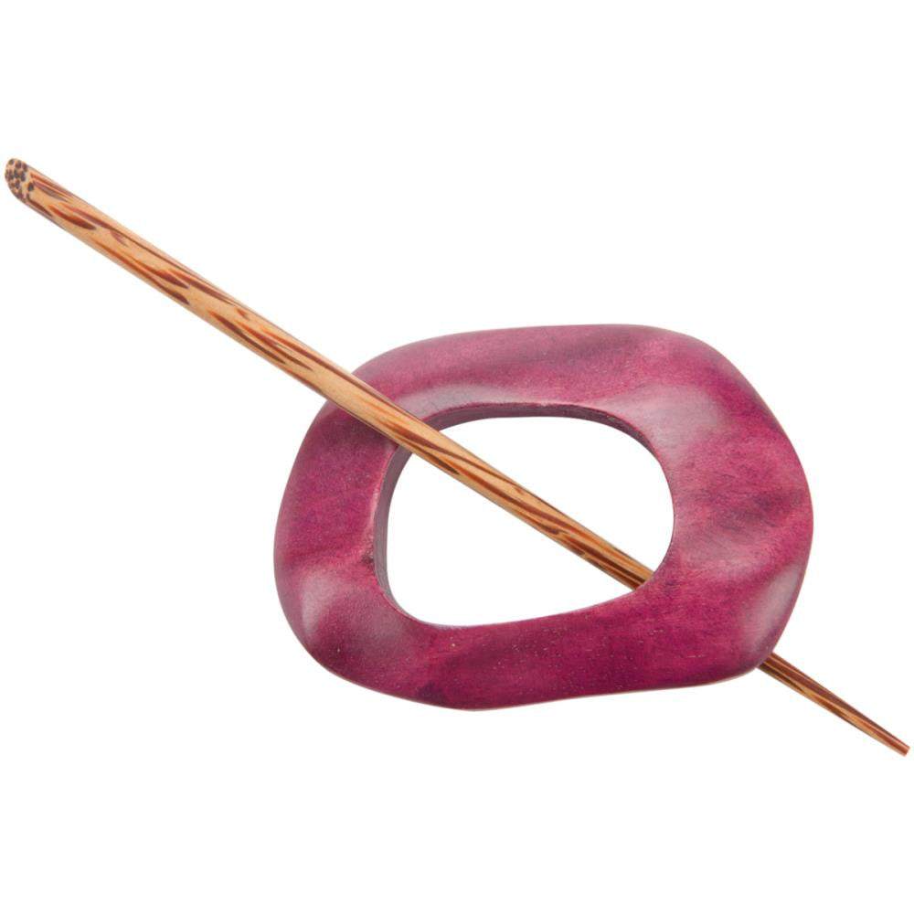 Paradise Exotic Shawl Pin, Berry, ready to ship
