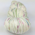 Knitcircus Yarns: Sleigh Ride 100g Speckled Handpaint skein, Parasol, ready to ship yarn
