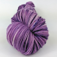 Knitcircus Yarns: Incandescently Happy 100g Speckled Handpaint skein, Flying Trapeze, ready to ship yarn