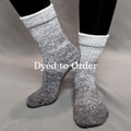 Knitcircus Yarns: Shades of Gray Chromatic Gradient Matching Socks Set, dyed to order yarn