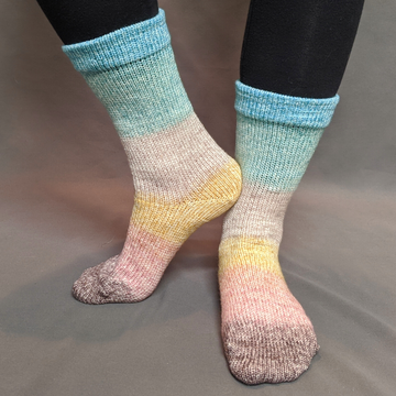 Knitcircus Yarns: Home on the Range Panoramic Gradient Matching Socks Set (large), Greatest of Ease, ready to ship yarn