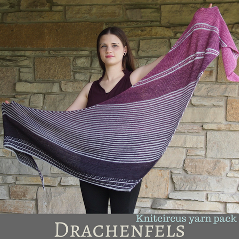 Drachenfels Shawl Yarn Pack, ready to ship