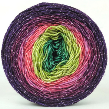 Knitcircus Yarns: Just Beet It 100g Panoramic Gradient, Sparkle, ready to ship yarn