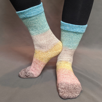 Knitcircus Yarns: Home on the Range Panoramic Gradient Matching Socks Set (medium), Greatest of Ease, ready to ship yarn