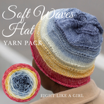 Soft Waves Hat Yarn Pack, pattern not included, ready to ship