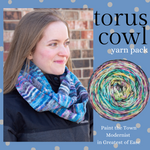 Torus Cowl Yarn Pack, pattern not included, ready to ship