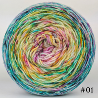 Knitcircus Yarns: Girls Run the World 100g Impressionist Gradient, Flying Trapeze, choose your cake, ready to ship yarn