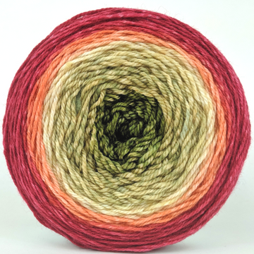 Knitcircus Yarns: Spice Spice Baby 100g Panoramic Gradient, Flying Trapeze, ready to ship yarn