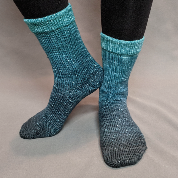 Knitcircus Yarns: Happy Little Trees Chromatic Gradient Matching Socks Set (medium), Greatest of Ease, ready to ship yarn