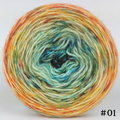 Knitcircus Yarns: Step Right Up 100g Impressionist Gradient, Breathtaking BFL, choose your cake, ready to ship yarn