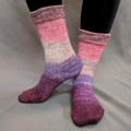 Knitcircus Yarns: Fig and Prosciutto Panoramic Gradient Matching Socks Set (large), Greatest of Ease, ready to ship yarn