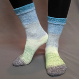 Growing Like A Weed Panoramic Gradient Matching Socks Set (medium), Greatest of Ease, ready to ship
