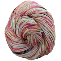 Knitcircus Yarns: Easy Peasy Lemon Squeezy 100g Speckled Handpaint skein, Ringmaster, ready to ship yarn