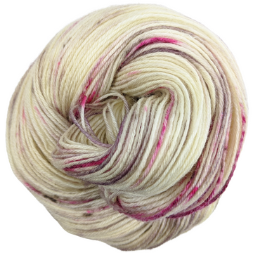 Knitcircus Yarns: Champagne and Strawberries 100g Speckled Handpaint skein, Breathtaking BFL, ready to ship yarn