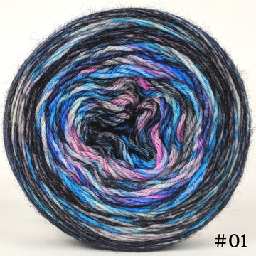 Knitcircus Yarns: Night of a Thousand Stars 100g Modernist, Breathtaking BFL, choose your cake, ready to ship yarn