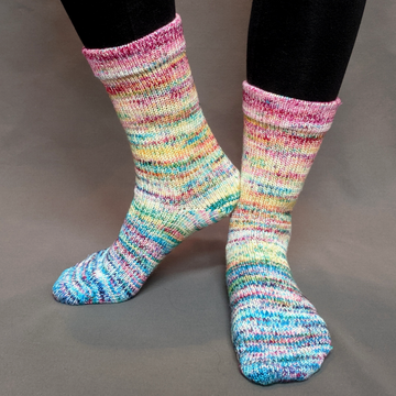Knitcircus Yarns: Girls Run the World Impressionist Matching Socks Set (medium), Greatest of Ease, choose your cakes, ready to ship yarn