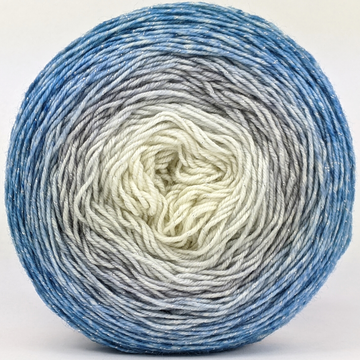 Knitcircus Yarns: Frosted Windowpanes 100g Panoramic Gradient, Sparkle, ready to ship yarn