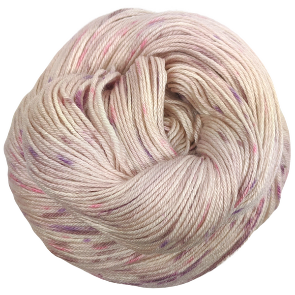 Knitcircus Yarns: Fig and Prosciutto 100g Speckled Handpaint skein, Parasol, ready to ship yarn