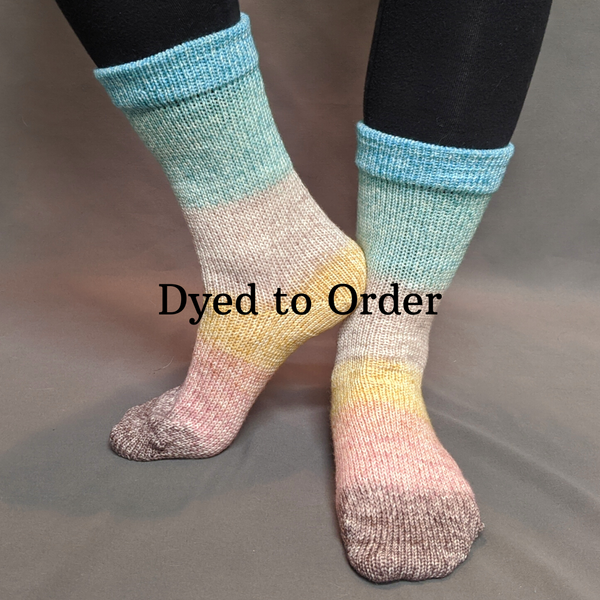 Knitcircus Yarns: Home on the Range Panoramic Gradient Matching Socks Set, dyed to order yarn