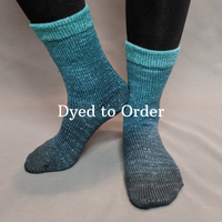 Knitcircus Yarns: Happy Little Trees Chromatic Gradient Matching Socks Set, dyed to order yarn