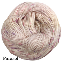 Knitcircus Yarns: Fig and Prosciutto Speckled Handpaint Skeins, dyed to order yarn