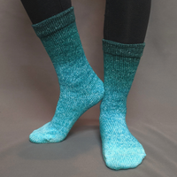 Knitcircus Yarns: Hello Beautiful Panoramic Gradient Matching Socks Set (large), Greatest of Ease, ready to ship yarn